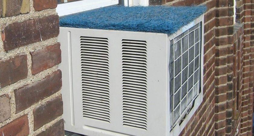 Window Air Conditioner Rain Cover Stop Noisy Raindrops
