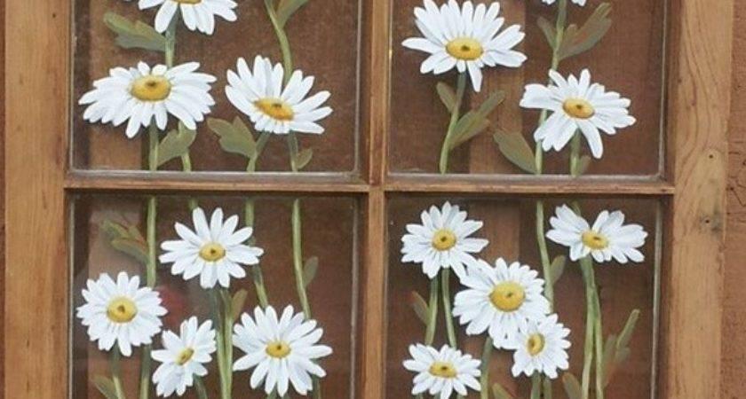 Window Glass Painting Designs Beginners