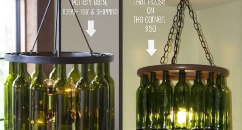Wine Bottle Chandelier Regard Residence