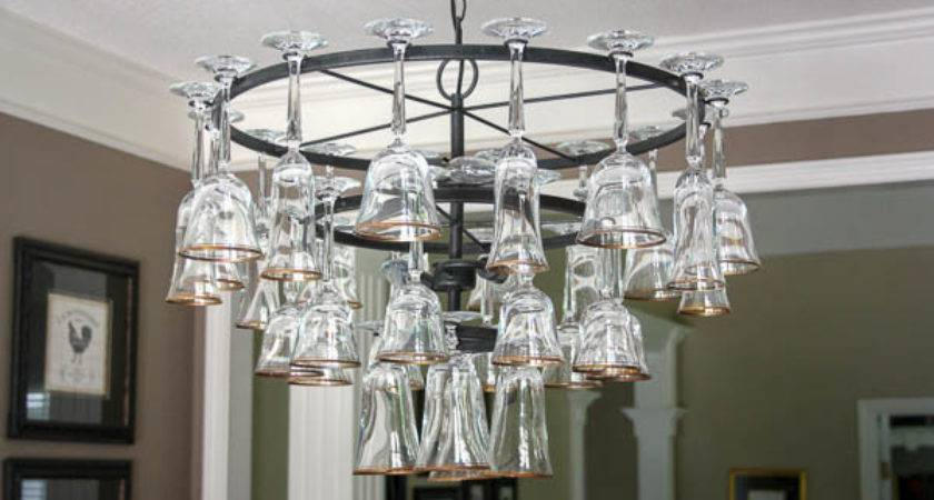 Wine Glass Chandelier Creating Life