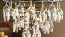 Wine Glass Rack Chandelier Industrial Chandeliers