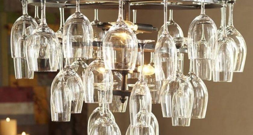 Wine Glass Rack Chandelier Industrial Chandeliers