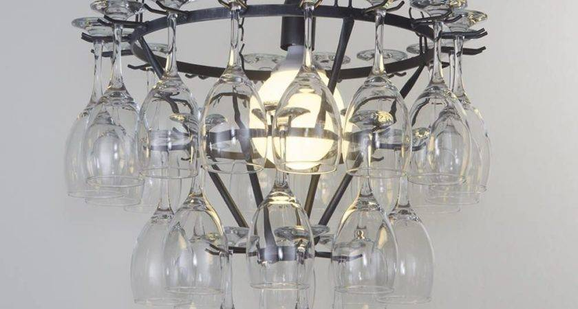 Wine Glasses Chandelier Glass