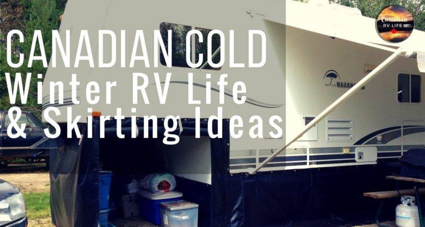 Winter Life Some Skirting Ideas Youtube