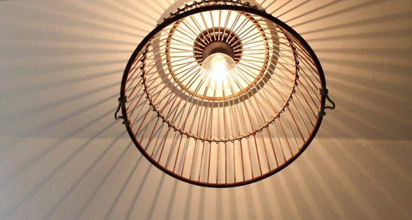 Wire Basket Pendant Light Fixtures