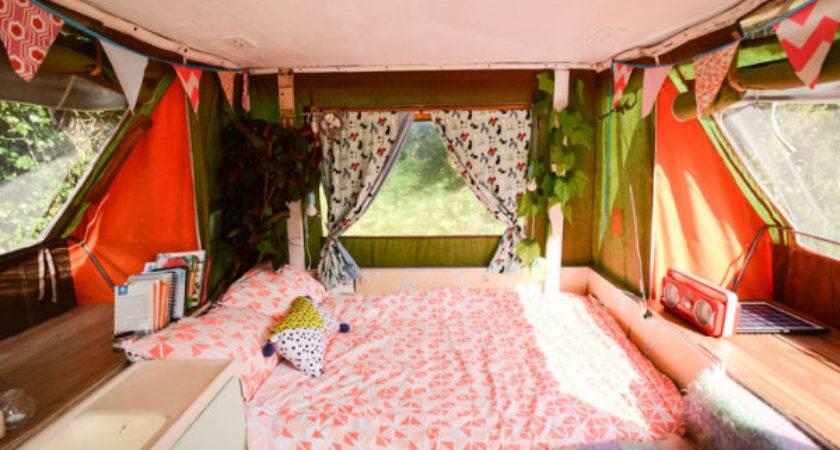 Woman Escapes High Rent Tiny Pop Camper