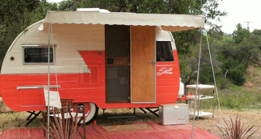 Woman Sews Stylish Camper Awnings Only Look Vintage