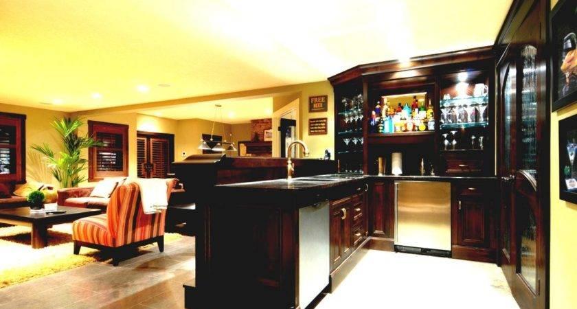 Wonderful Basement Bar Ideas Budget Recessed