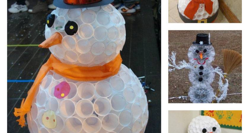 Wonderful Diy Fun Snowman Plastic Cups