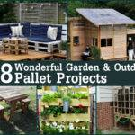 Wonderful Garden Outdoor Pallet Projects