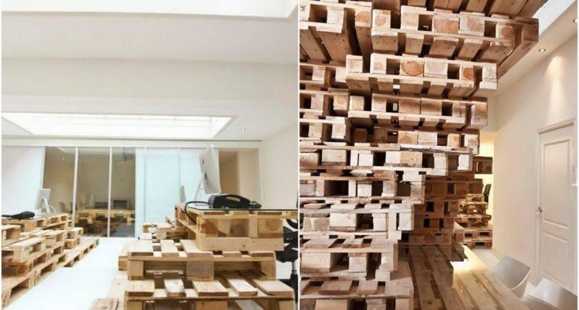 Wonderful Pallet Design Wood Material Plus White Door