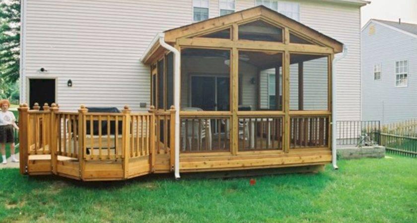 Wonderful Screened Porch Deck Idea Futurist