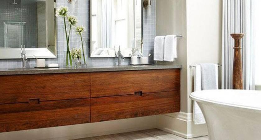 Wood Bathroom Floor Ideas Home Design Interior