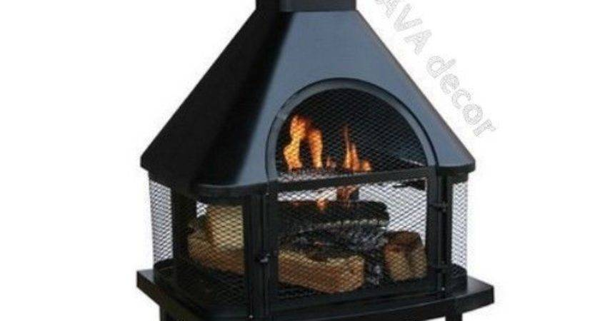 Wood Burning Fireplace Patio Outdoor Fire Pit