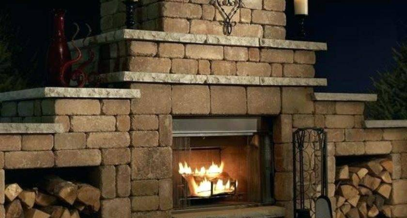 Wood Burning Outdoor Fireplace Fired Brick