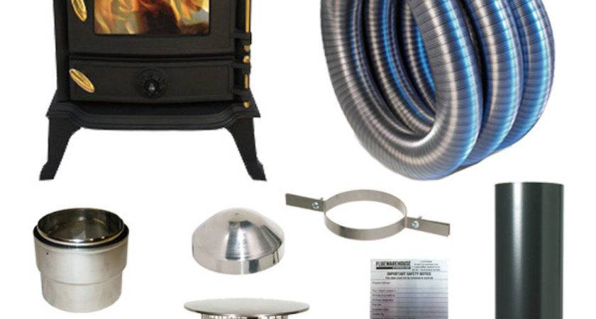 Wood Burning Stove Pipe Kit Install
