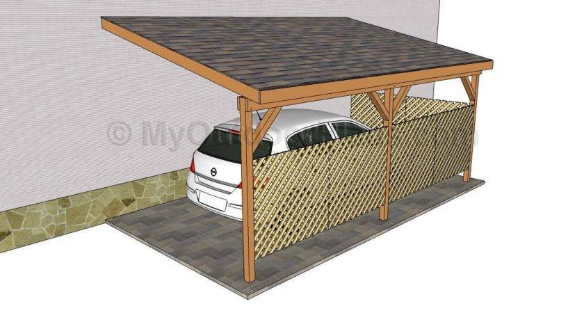 Wood Carport Designs Outdoor Plans Diy Shed