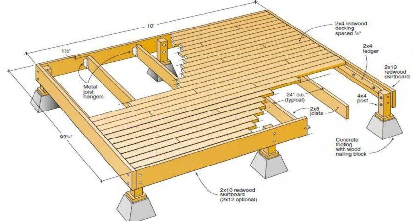 Wood Deck Plans Blueprints Plan