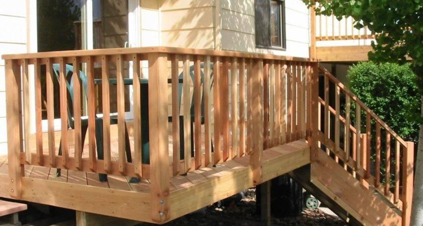 Wood Deck Railing Ideas Doherty House Durability
