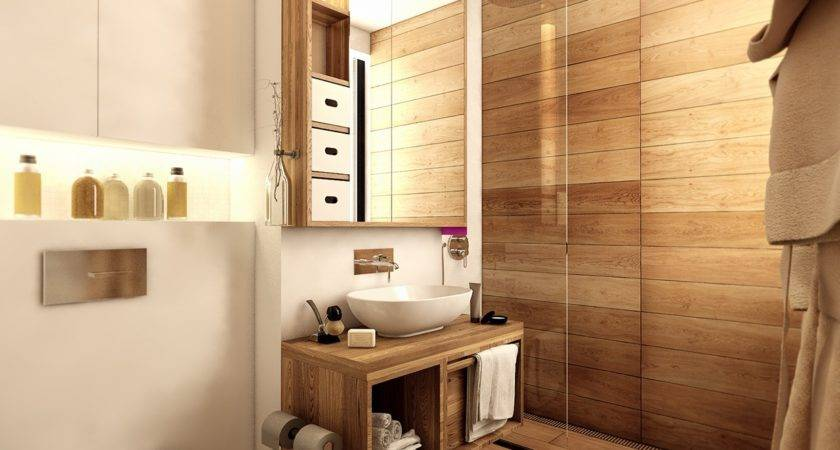 Wood Floor Bathroom Interior Design Ideas