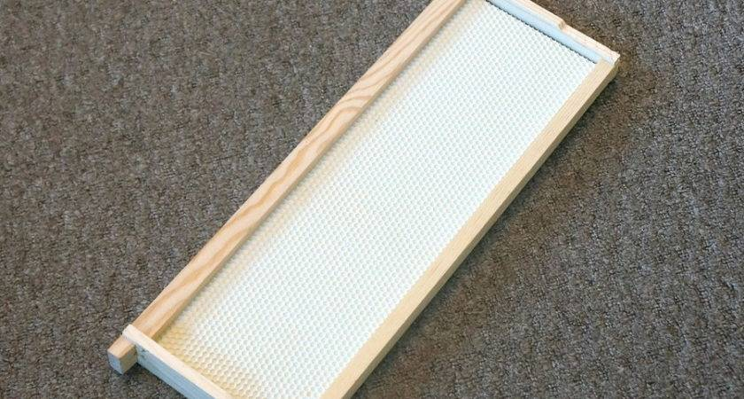 Wood Frame Wax Coated Plastic Foundation