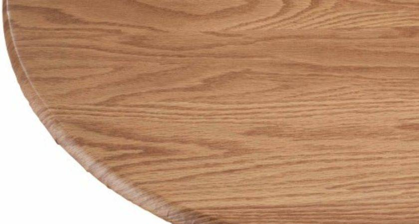 Wood Grain Vinyl Elasticized Table Cover Jet