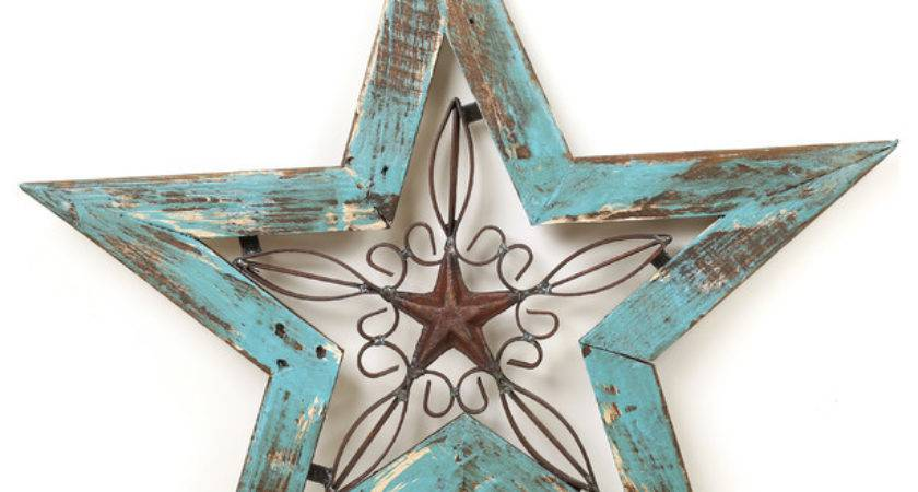Wood Iron Texas Star Rustic Wall Decor