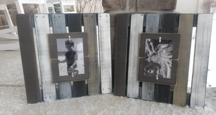 Wood Pallet Frames Repurposed