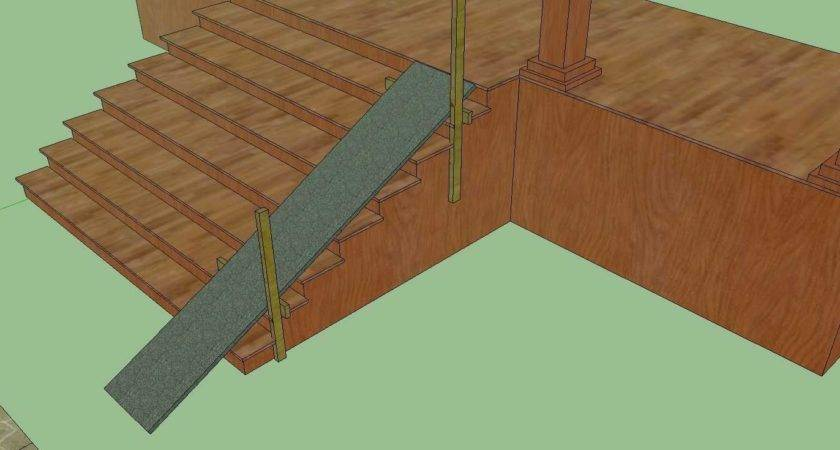 Wood Pallet Ramp Entryway Stair Dog