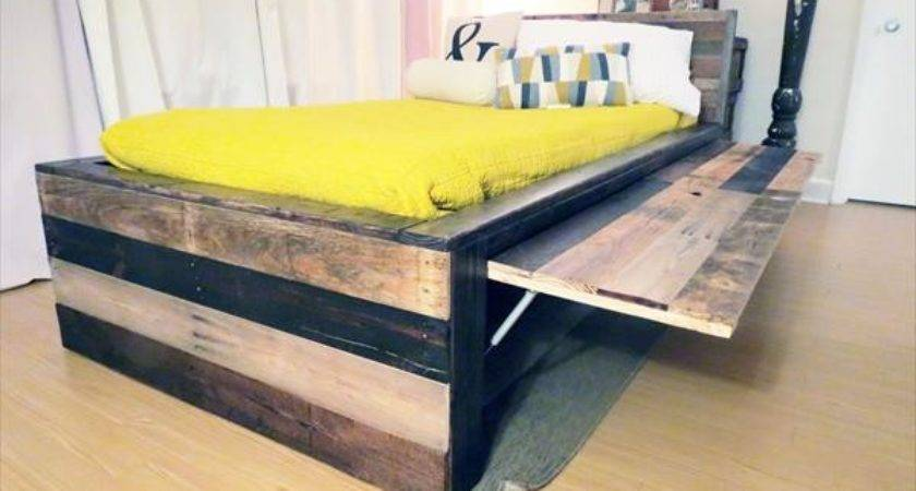 Wood Pallet Twin Bed Headboard Furniture Plans
