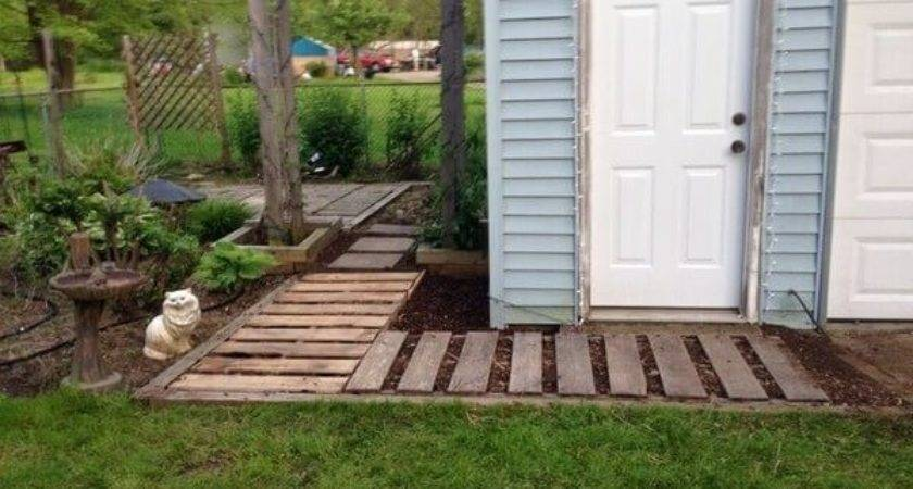 Wood Pallet Walkway Projects Try Home