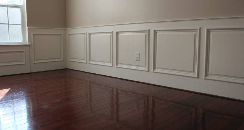 Wood Panel Half Wall