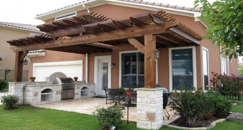 Wood Patio Covers Pergola Designs Attached