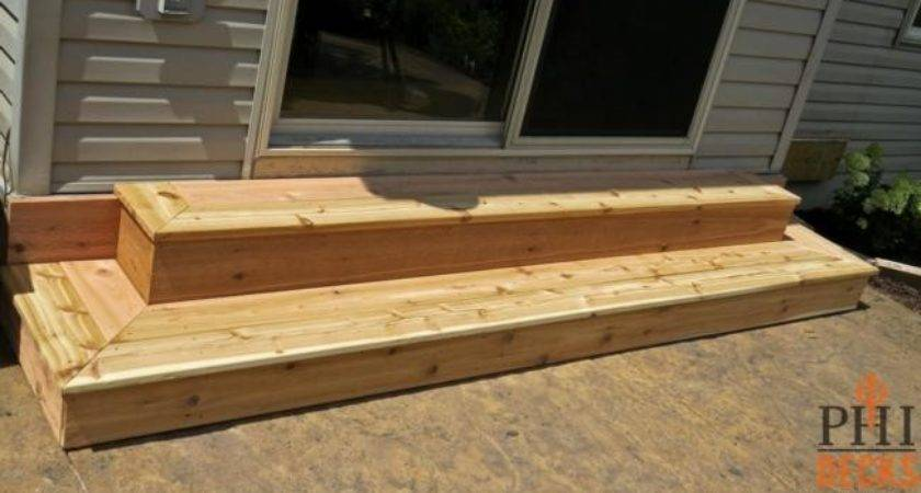 Wood Patio Steps Fixs Project