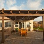 Wood Tellis Patio Cover Attached House Western