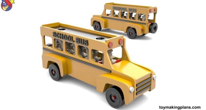 Wood Toy Plans Friendly School Bus Youtube