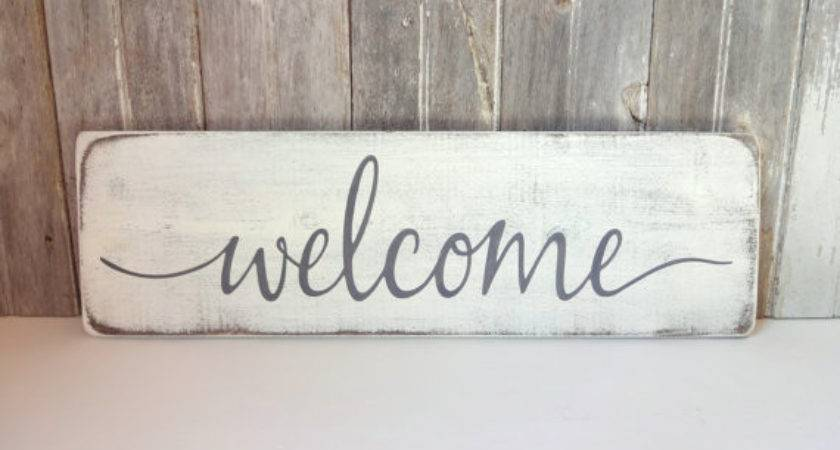 Wood Welcome Sign Rustic Wall