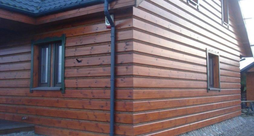 Wooden Facade Panels Pine Siding Logs Exterior