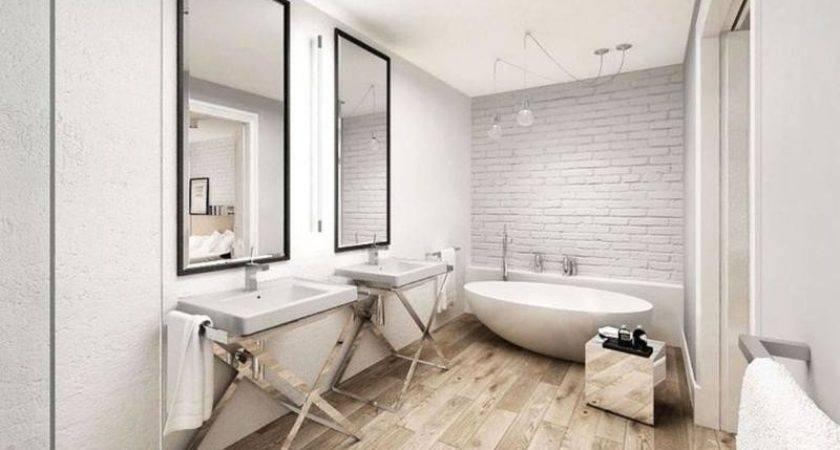 Wooden Floor Natural Bathroom Designs Rilane