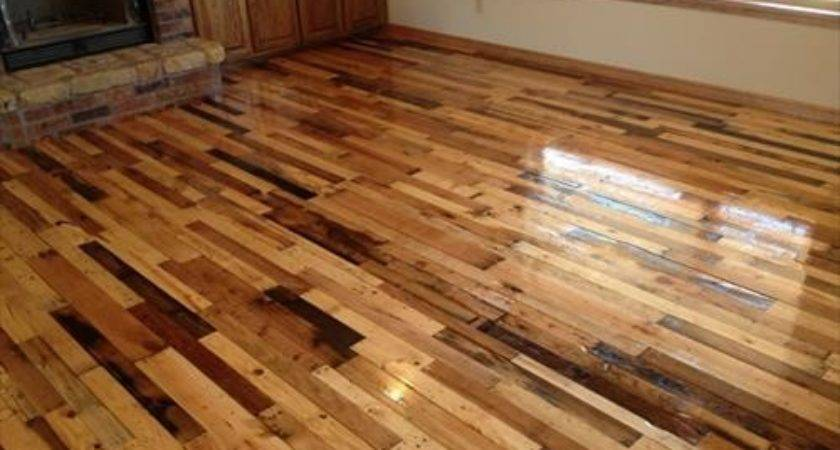 Wooden Pallet Flooring Stylish Way Living