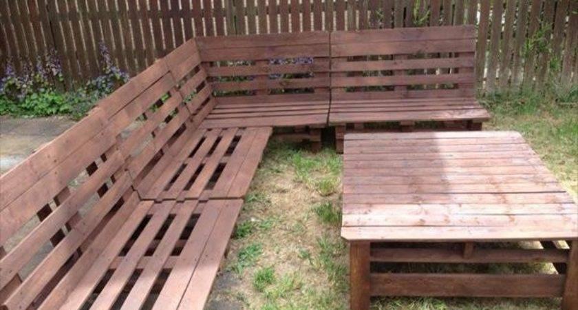Wooden Pallet Garden Sofa Plans Home Design Decor