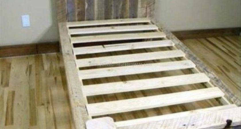 Wooden Pallet Twin Beds Furniture Projects