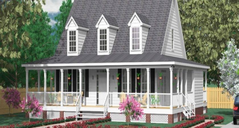 Wrap Around Porch House Plans Modern Small