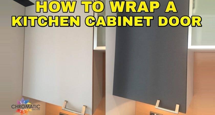 Wrap Kitchen Cabinet Door Diy Vinyl Wrapping
