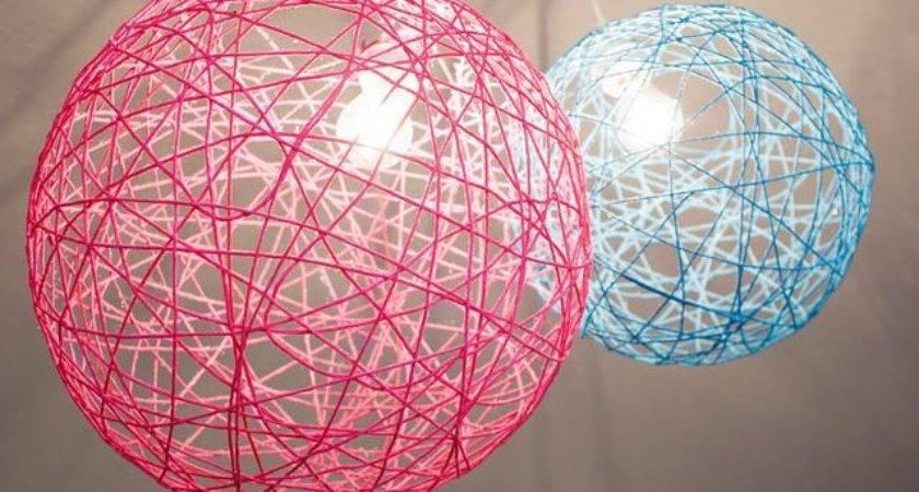 Yarn Orb Light Fixtures Love Kids Room Very Cool