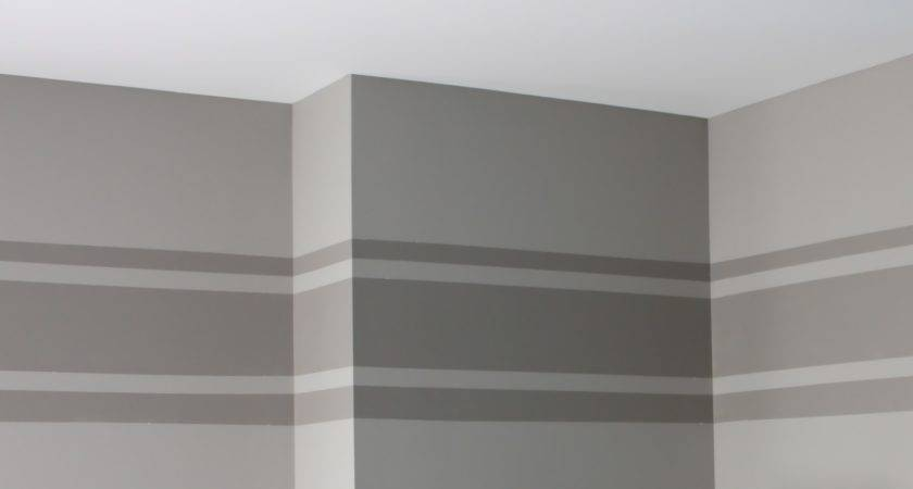 Yellow Cape Cod Tone Wall Stripe Tutorial