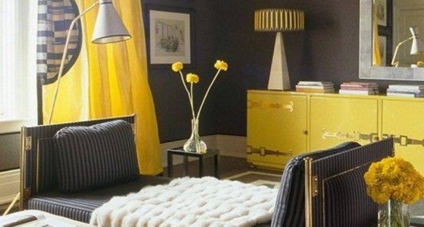 Yellow Grey Decorating Ideas Bedroom Design