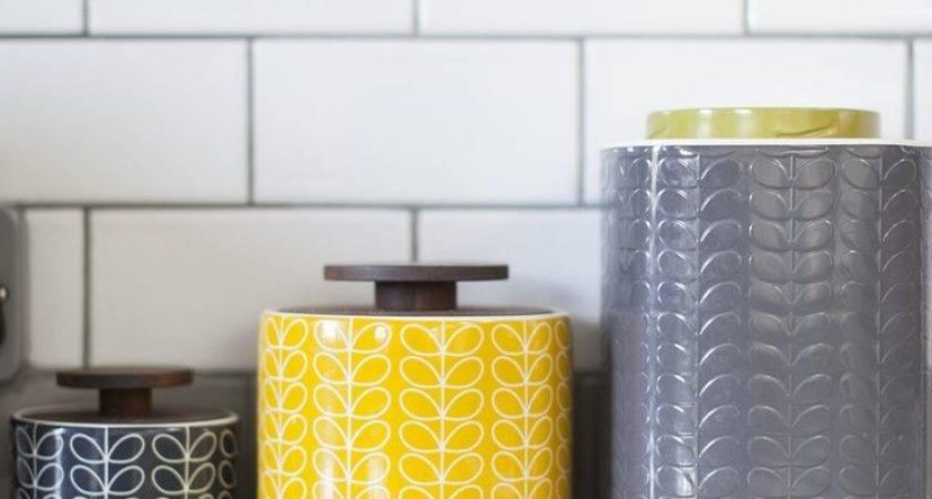 Yellow Grey Kitchen Decor