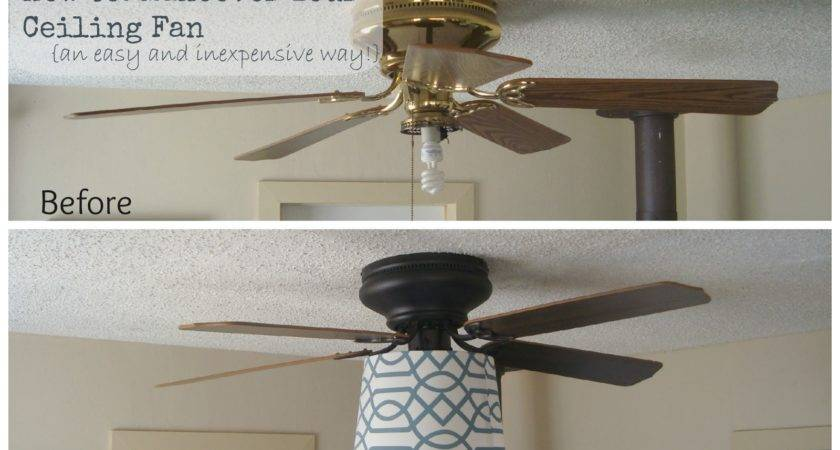 Yellow House Ceiling Fan Makeover