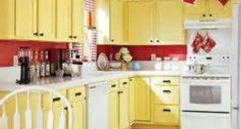 Yellow Red Kitchen Design Decoration